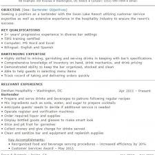 bartending resume templates examples of bartender resumes head