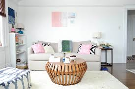 Shaggy Rugs For Living Room Looking Pink Shag Rug In Living Room Eclectic With Curved Sofa