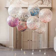 5pcs 36 inch confetti balloons clear balloons wedding