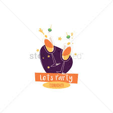 champagne glass cartoon let u0027s party design with champagne glasses vector image 1803133