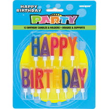 happy birthday candles letter happy birthday candles with holders birthday party supplies
