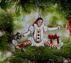 clown christmas tree ornament is dana the by cactushillcottage