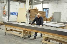 concrete top bar table extra long concrete bar top with no seams brooks custom