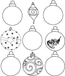 Christmas Tree Ornaments Printable Coloring Pages Christmas Tree Coloring Pages Ornaments