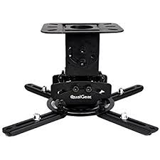 How To Hang Projector From Ceiling by Amazon Com Qualgear Prb 717 Blk Universal Ceiling Mount Projector