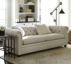 chesterfield style fabric sofa 47 breathtaking pottery barn chesterfield sofa pictures design