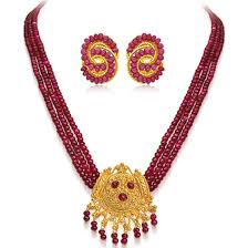 red gold jewelry necklace images Precious stone sets jpg