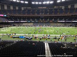 mercedes dome mercedes superdome section 221 seat views seatgeek