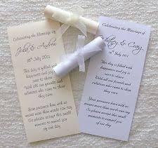 Diy Scroll Invitations Scroll Wedding Invitations Ebay