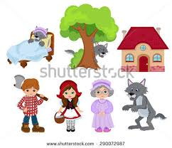 red riding hood cartoon download free vector art stock