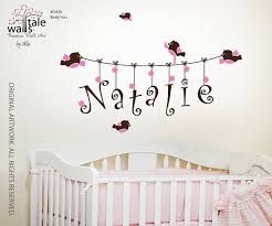 Wall Name Decals For Nursery Natalie Nursery Wall Name Decals Sle Themes Amazing Simple