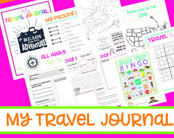 printable vacation journal pages printable travel journal kids children s 9 pages games