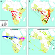 Horn Of Africa Map by Admixture Into And Within Sub Saharan Africa Elife
