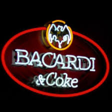 bacardi logo bacardi and coke neon sign u2013 customized neon sign in us