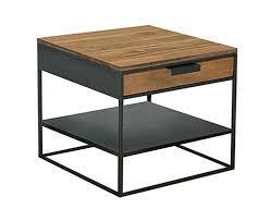 bout de canapé bois chevet bout de canapé métal acier brut et bois sur mesure