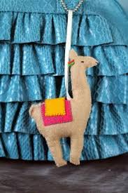 llama alpaca felt ornament made to order by creaturerooms on etsy