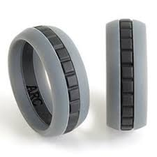 Rubber Wedding Rings by Black Wood Grain Silicone Wedding Band Handcrafted Custom