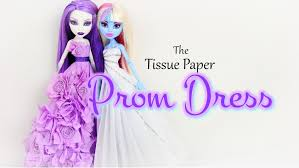 diy how to make tissue paper prom dress back to