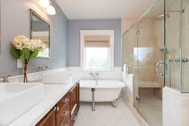 comfortable small remodeled bathroom with chest drawer and