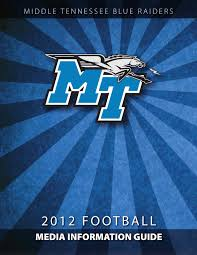 2009 middle tennessee football media guide by middle tennessee