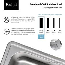 kraus ktm25 25 inch topmount single bowl 18 gauge stainless steel