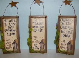 Outhouse Bathroom Ideas by Primitive Country Bathroom Bathroom Sign Wall Decor Primitive