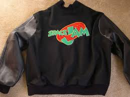 space jam sweater oh god someone is trying to sell a space jam jacket for 1 500