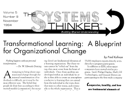 the systems thinker u2013 transformational learning a blueprint for