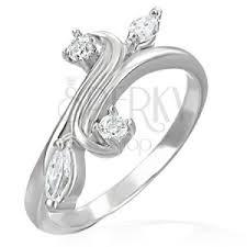 snubny prsten snubný prsteň rozvetvenie ukončené so zirkónmi š eshop