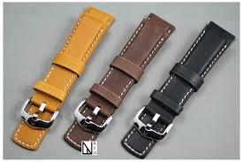 bracelet cuir montre images Bracelet montre cuir hirsch marron or r sistant plong e piscine jpg