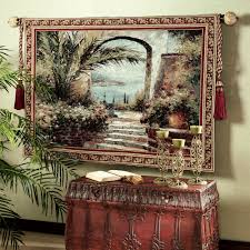 Tapestry On Bedroom Wall Rose Arch Wall Tapestry