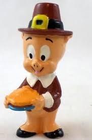 porky pig thanksgiving pvc figure warner brothers looney tunes htf