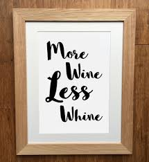 more wine less whine print more wine less whine greetings card