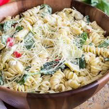 spinach artichoke pasta salad real housemoms