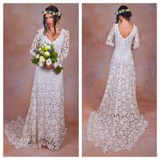 boho crochet rustic boho wedding dress simple crochet lace bohemian