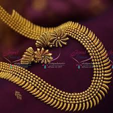 fashion long gold necklace images Nl6541 beads design stylish long necklace antique dull gold haram JPG