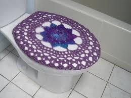 couvre siege wc housse de siège de toilettes au crochet ou crochet wc