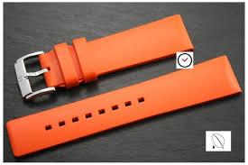 bracelet montre silicone images Bracelet montre caoutchouc hirsch orange tanche pas silicone jpg