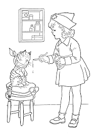 nursing coloring page free download
