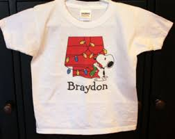 snoopy christmas shirts snoopy christmas personalized bodysuit or toddler shirt peanuts