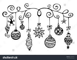 ornaments sketch black white stock illustration