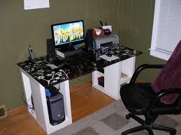Gaming Computer Desks Playroom Gaming Computer Desk For Multiple Monitors Diy Regarding