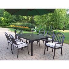 Patio Dining Set With Bench - oakland living elite all weather wicker patio dining set oakland