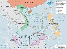 Taiwan Map Asia by The South China Sea Maps Exclusive Economic Zones Reef Building