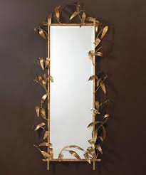 Bamboo Sconce Gold Leaf Bamboo Edge Mirror Mirrors