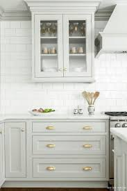 backsplash white kitchen with white subway tile cloud white