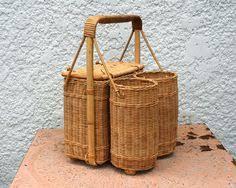 wine picnic baskets vintage zinc lined wicker picnic basket picnics picnic baskets