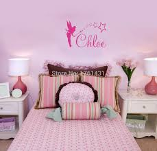 popular tinkerbell wall stickers buy cheap tinkerbell wall tinkerbell any custom name wall sticker girl vinyl wall quote home decoration wall art decals bedroom