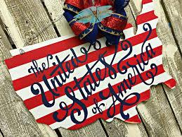united states of america door hanger patriotic door sign usa