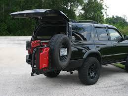 jeep tire carrier 4runner rear bumper u0026 tire rack 3rd gen 1996 2002